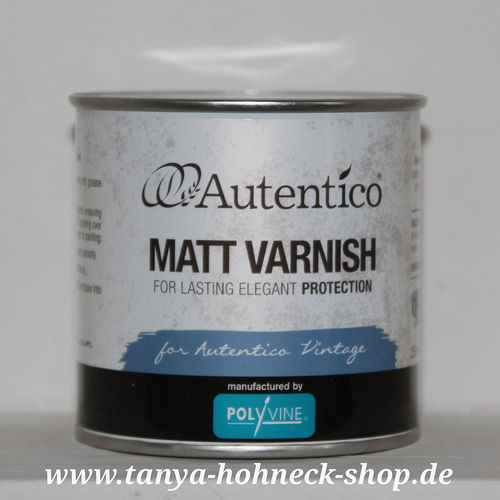 MATT VARNISH Autentico Klarlack  (farblos, matt ohne Vergilben, transparent)