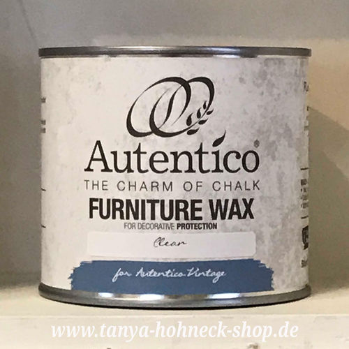 Wachs Autentico FURNITURE WAX Clear (farblos) Möbel Kreidefarbe