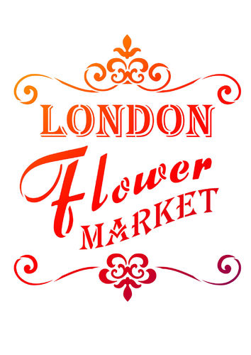 Schablone 'London Flower Market' A4 Viva Decor stencil
