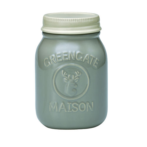 'Jar Maison warm grey' Vorratsdose by GREENGATE H19cm grau
