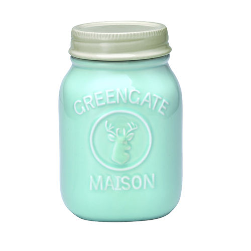 'Jar Maison mint' Vorratsdose by GREENGATE H19cm Mint Hellblau