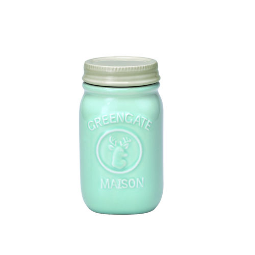 'Jar Maison mint' Vorratsdose by GREENGATE H 15cm Mint-Hellblau