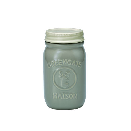 'Jar Maison warm grey' Vorratsdose by GREENGATE H 15cm Grau
