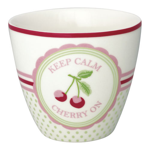 'Cherry mega white' Latte cup by GREENGATE Kaffeebecher