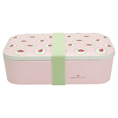 'Strawberry pale pink' Lunch box Dose by GREENGATE rosa Erdbeer