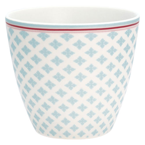 'Sasha pale blue' Latte cup by GREENGATE Kaffeebecher Hellblau