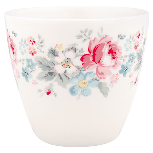 'Marie pale grey' Latte cup by GREENGATE Kaffeebecher Porzellan