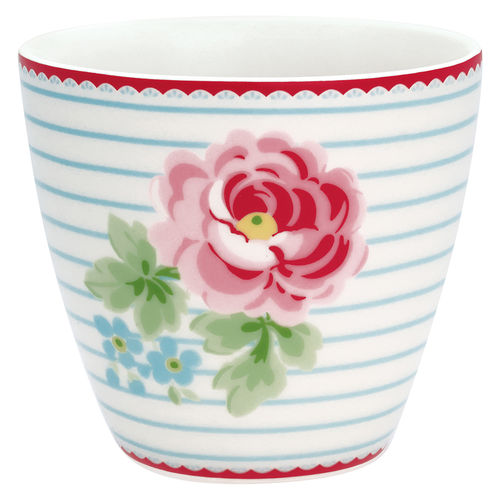 'Lily white' Latte cup by GREENGATE Kaffeebecher Porzellan