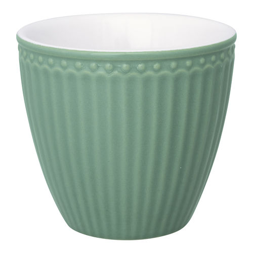 'Alice dusty green' Latte cup by GREENGATE Kaffeebecher Everyday