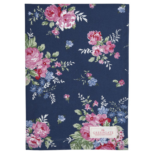 'Rose dark blue' Geschirrtuch by GREENGATE 100% Baumwolle