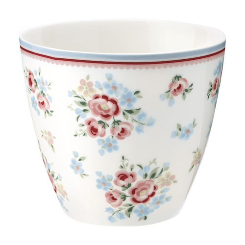 'Nicoline white' Latte cup by GREENGATE Kaffeebecher