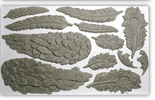 IOD Silikonform 'Wings and Feathers' Decor Mould DEC-MOU-WIN