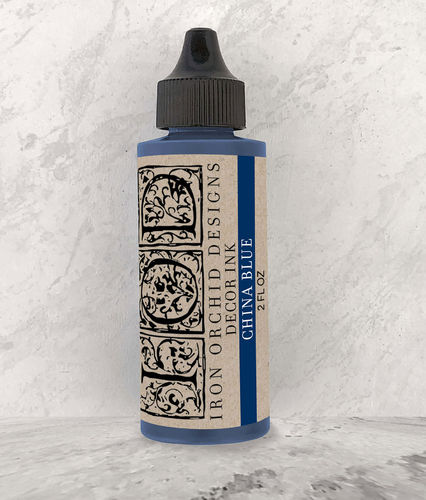 IOD Decor Ink China Blue Stempelfarbe Blau DEC-INK-CHI-B, 60ml