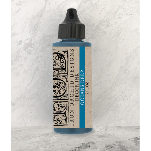 IOD Decor Ink Oceans Deep Stempelfarbe Ozean-Blau DEC-INK-OCE, 60ml