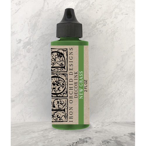 IOD Decor Ink New Grass Green Stempelfarbe Grün DEC-INK-GRAS, 60ml